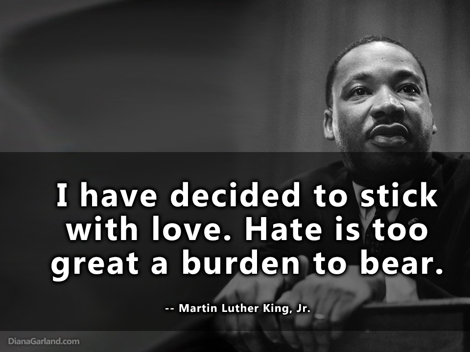 "Pax on both houses: Martin Luther King Jr: ""I have decided..."""