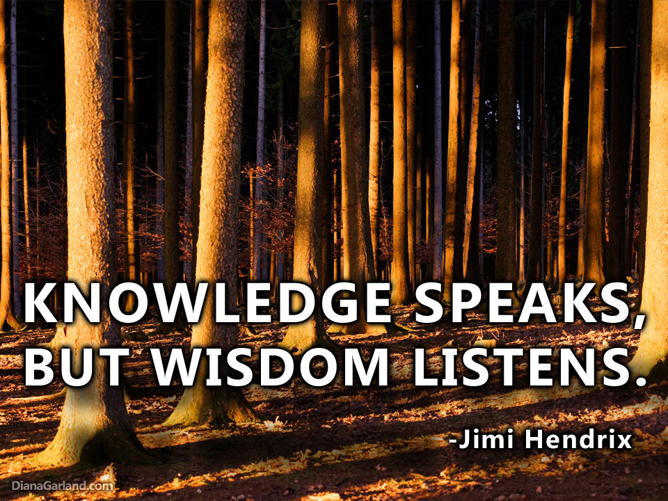 knowledge speaks but - photo #27