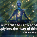 """""""Meditation is the dissolution of thoughts in Eternal awareness or Pure consciousness without objectification, knowing without thinking, merging finitude in infinity."""" -Voltaire"""