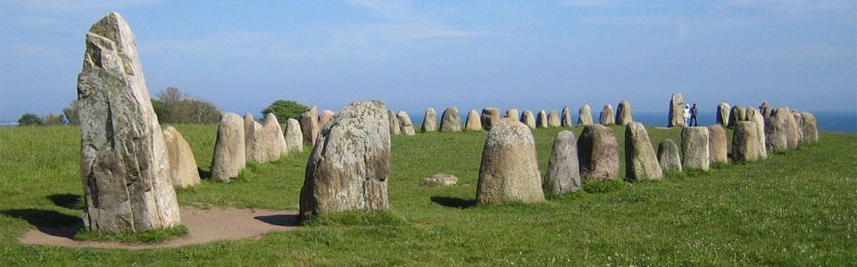 Ales stenar (aka Ale's Stones), Sweden. {Source: Wikipedia - CC BY-SA}