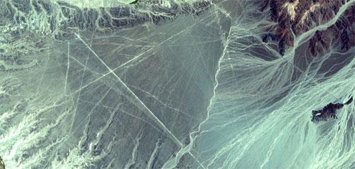 Nazca Lines, Peru. {Source: NASA, Wikipedia}