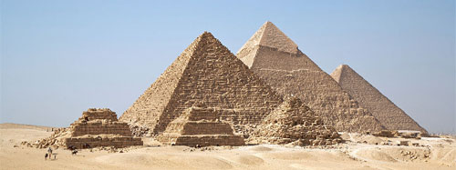 Pyramids at Giza, Egypt. {Source: Ricardo Liberato, Wikipedia}